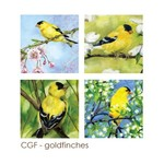 - ART BY ALYSSA COASTERS SET  GOLDFINCHES