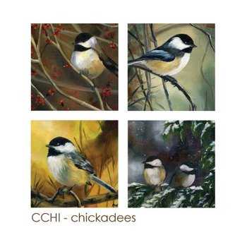 - ART BY ALYSSA COASTERS SET  CHICKADEES
