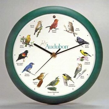 - SINGING AUDUBON BIRD CLOCK 8""