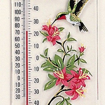 - ASPECTS HUMMINGBIRD W/AZAELA THERMOMETER