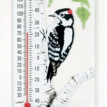 - ASPECTS WOODPECKER WINDOW THERMOMETER