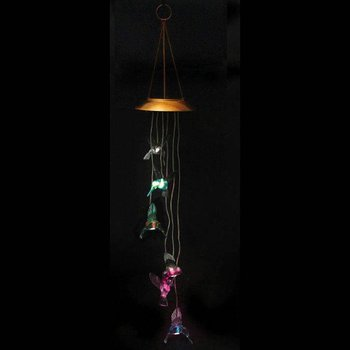 - EVERGREEN HUMMINGBIRD SOLAR MOBILE WINDCHIME
