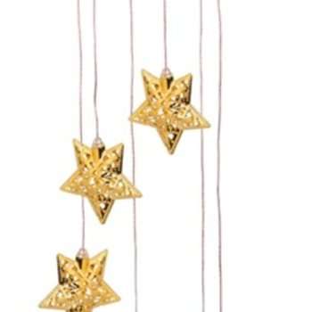 - EVERGREEN GOLDEN STARS SOLAR MOBILE WINDCHIME