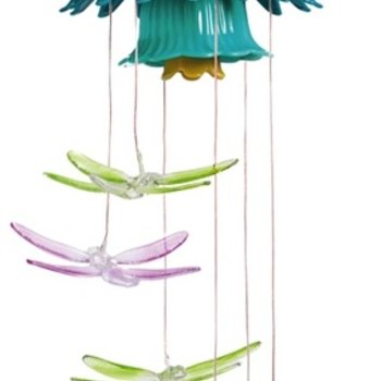 - EVERGREEN DRAGONFLY SOLAR MOBILE W/FLOWER TOP