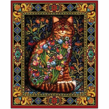 - WHITE MOUNTAIN TAPESTRY CAT PUZZLE 1000 PC