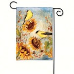 - MAGNET WORKS YELLOW FINCHES GARDEN FLAG