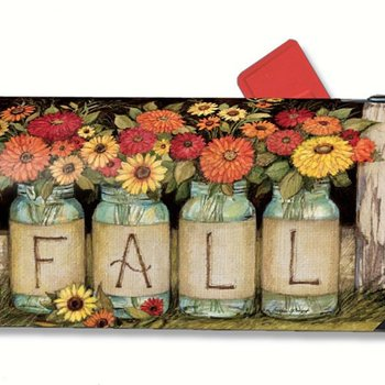- MAGNET MAILBOX COVER FALL MASON JARS