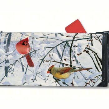 - MAGNET MAILBOX COVER WINTER MORNING CARDINALS