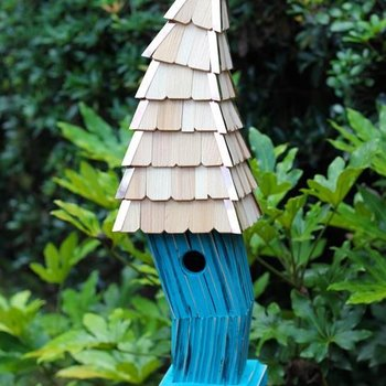 - HEARTWOOD BIRDIWAMPUS BIRD HOUSE TURQUOISE