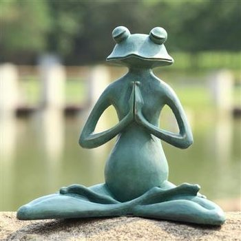 - SPI MEDITATING YOGA FROG GARDEN SCULPTURE