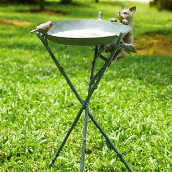 - SPI CURIOUS CAT & BIRD BIRDBATH
