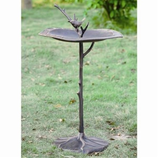 - SPI BIRD ON BRANCH SUNDIAL BIRDBATH
