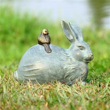 - SPI RABBIT AND LITTLE FRIEND GARDEN SCULPTURE