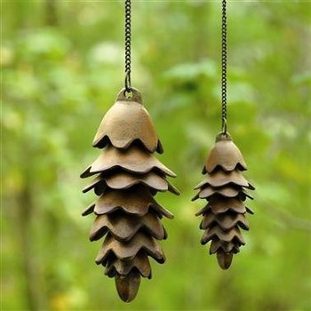 - SPI LARGE PINECONE WIND CHIME