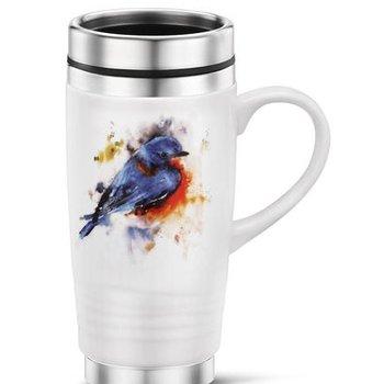 - DEMDACO SPRINGTIME BLUEBIRD TRAVEL MUG 14OZ