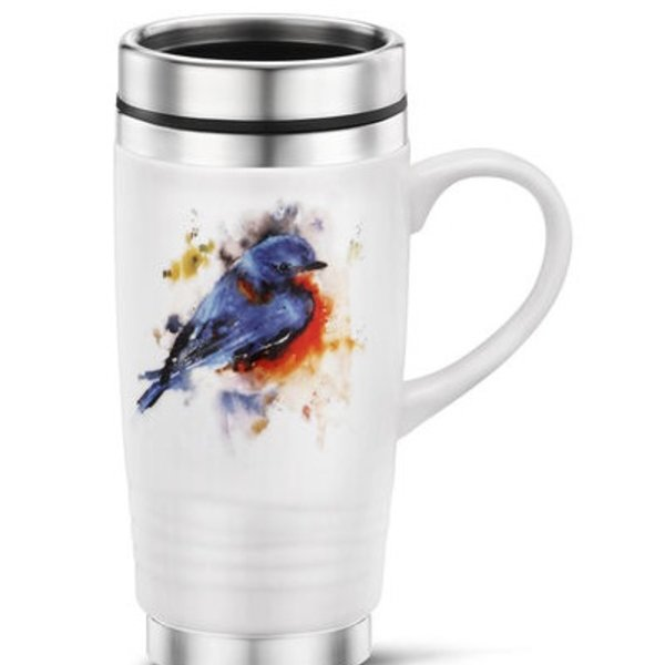 - DEMDACO SPRINGTIME BLUEBIRD TRAVEL MUG 14OZ