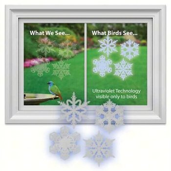 - WINDOW ALERT SNOWFLAKE DECAL 4PK