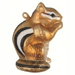 - COBANE CHIPMUNK GLASS ORNAMENT