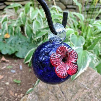 - PARASOL DROPLETS 4 OZ. HUMMINGBIRD FEEDER BLUE