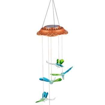 - EVERGREEN FACETED DRAGONFLIES SOLAR MOBILE WINDCHIME