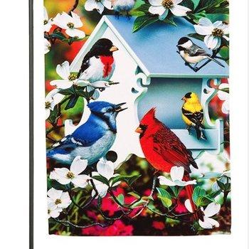- EVERGREEN BACKYARD BIRD GARDEN SATIN FLAG