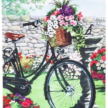 - EVERGREEN GARDEN BICYCLE GARDEN SATIN FLAG