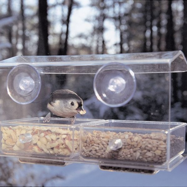 - ASPECTS BUFFET DOUBLE SEED TRAY WINDOW FEEDER