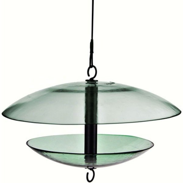 - COURONNE CO GLASS FEEDER WITH WEATHER DOME CLEAR