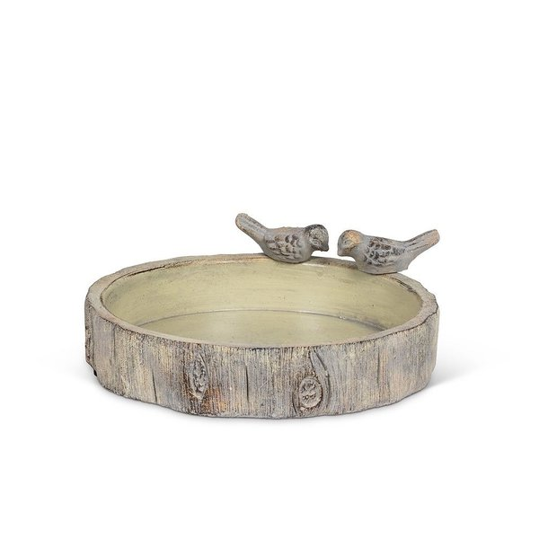 - ABBOTT SMALL ROUND STUMP BIRD BATH