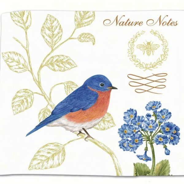 - ALICE'S COTTAGE BLUEBIRDS FLOUR SACK TOWEL