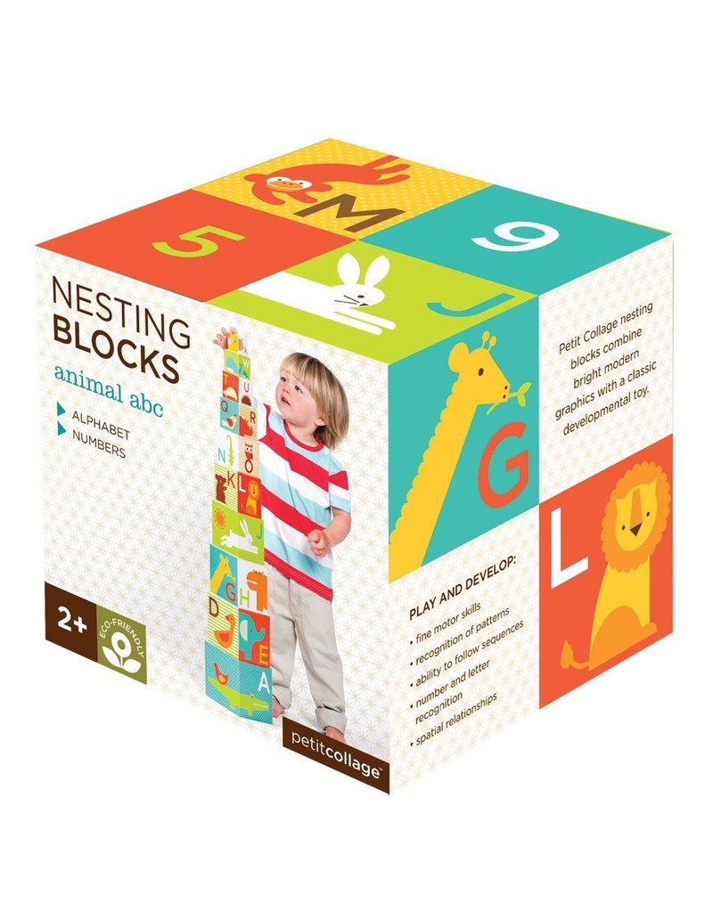 Petit Collage Animal ABC Nesting Blocks