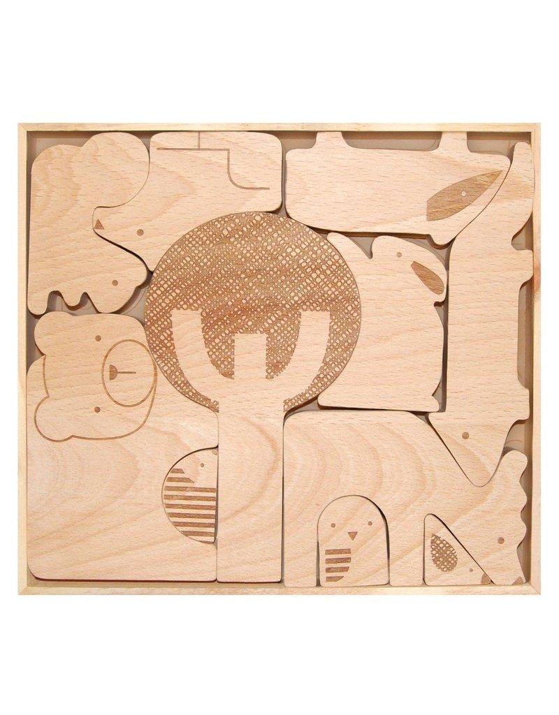 Petit Collage Forest Jumble Wood Puzzle
