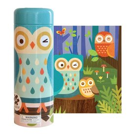 Petit Collage Owl Family 64 Piece Puzzle