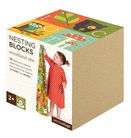 Petit Collage Woodlands ABC Nesting Blocks