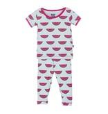 KicKee Pants Bamboo Blend Watermelon Pajama Set