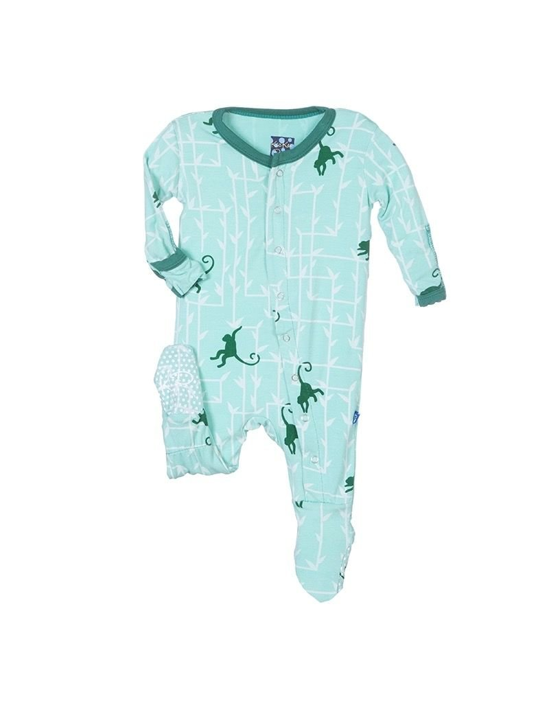 KicKee Pants Bamboo Blend Forest Monkey Footie