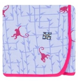 KicKee Pants Bamboo Blend Lilac Monkey Swaddle Blanket