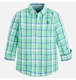 Mayoral SALE! Long Sleeve Plaid Button Up