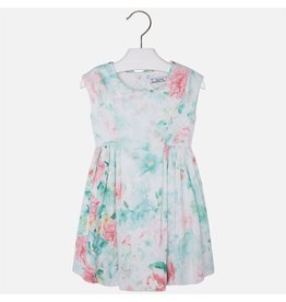 Mayoral Floral Print Bow Dress