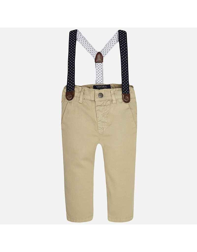 Mayoral Baby Chinos with Suspenders