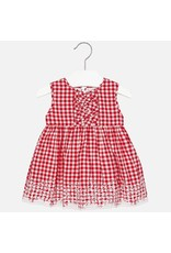 Mayoral SALE! Embroidered Gingham Dress