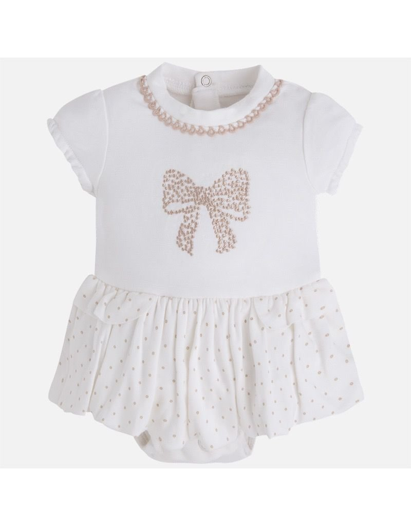 Mayoral Embroidered Skirted Bodysuit