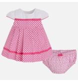 Mayoral SALE! Geometric Print Dress with Knickers