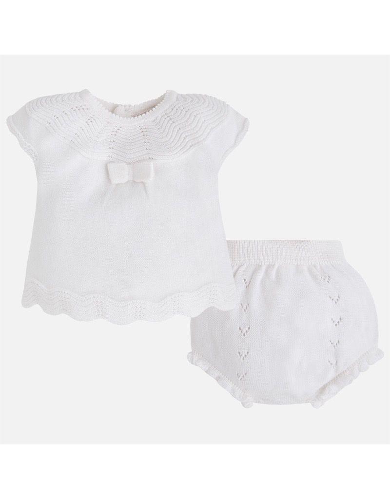 Mayoral SALE! Knit Cap Sleeve Top & Bloomer Set