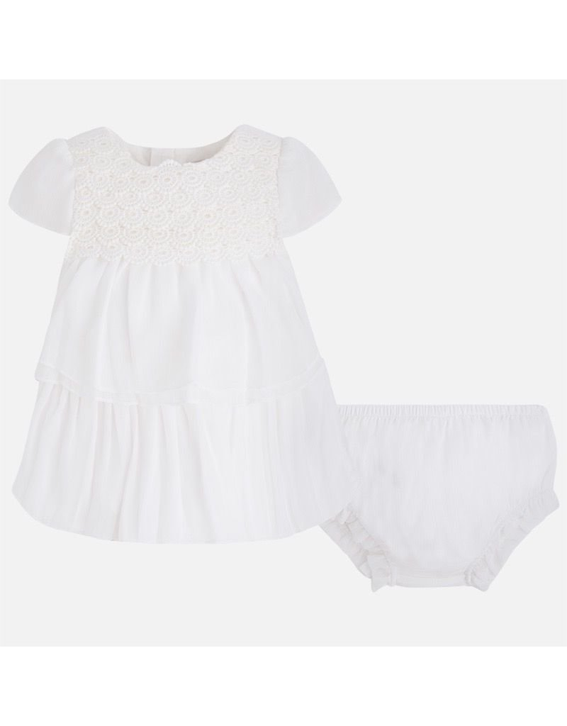 Mayoral Lacy Ruffle Dress with Knickers