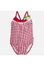 Mayoral Ladybug Gingham Swimsuit