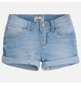 Mayoral Rolled Hem Denim Shorts