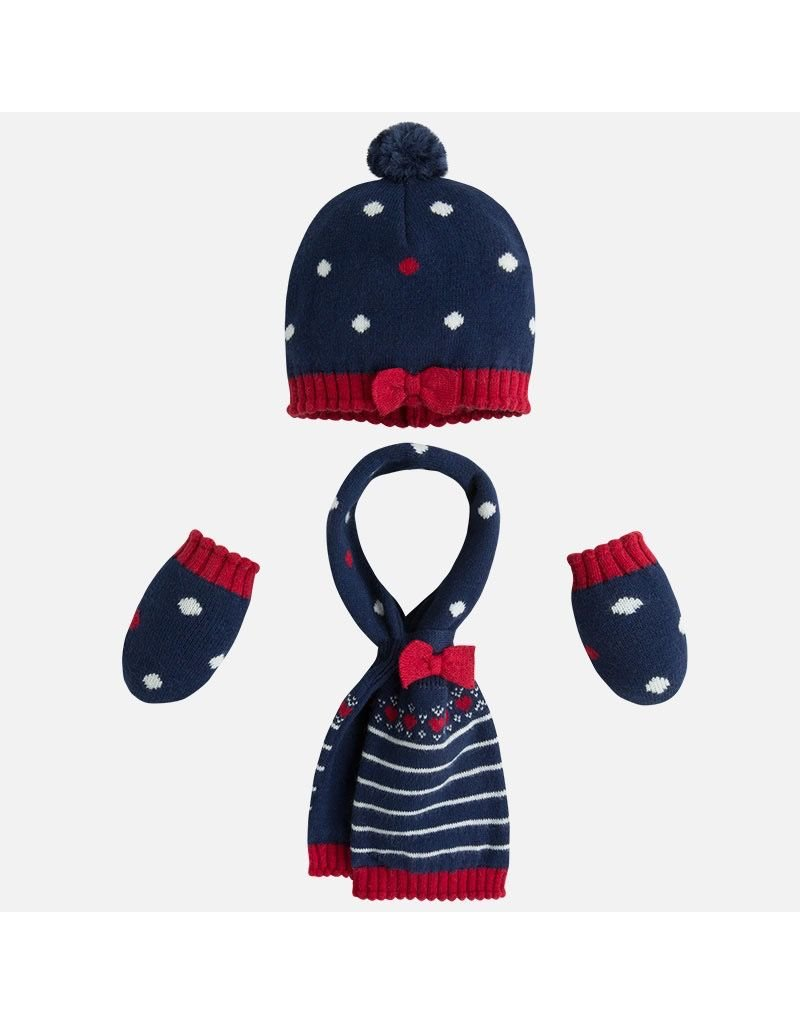 Mayoral SALE! Baby Hat, Mittens, and Scarf Set