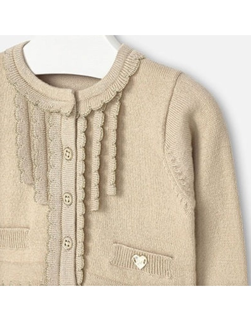 Mayoral SALE! Ruffle Detail Baby Cardigan