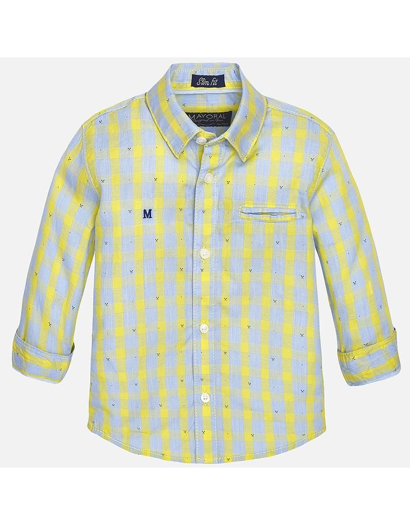 Mayoral SALE! Spring Plaid Button Down Baby Shirt